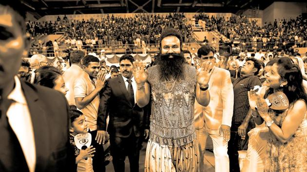 Gurmeet Ram Rahim Singh's followers, better known as premis, vouch for the Dera chief's healing touch and mystical powers.(AP File Photo)