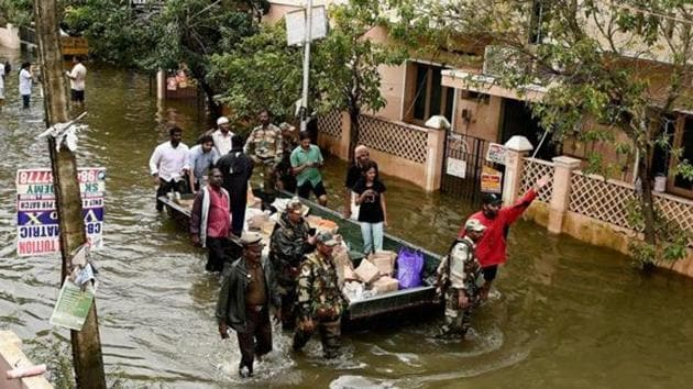 """Exactly one year ago, the Parliamentary Standing Committee on Home Affairs submitted its report on the 2015 Chennai floods. The report concluded, among other things, that """"encroachment of lakes and river beds played a major role in causing massive flood in Chennai.""""(PTI)"""