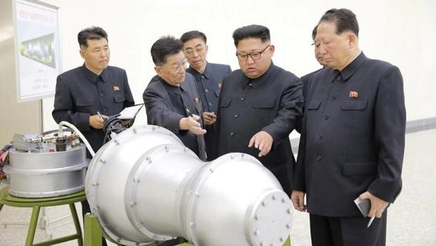 North Korean leader Kim Jong Un provides guidance on a nuclear weapons programme in this undated photo released by North Korea's Korean Central News Agency (KCNA) in Pyongyang on September 3, 2017.(Reuters file photo)