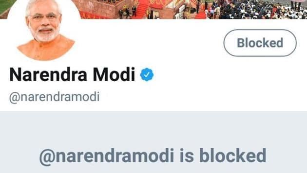 #BlockNarendraModihas been trending on Thursday after reports that Modi followed handles posting abusive content about slain journalist Gauri Lankesh.(Twitter)