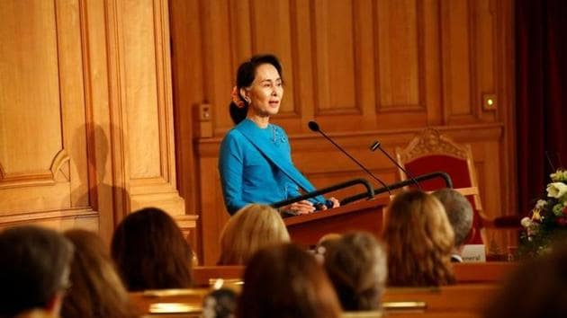 Myanmar's state counsellor Aung San Suu Kyi.(File)