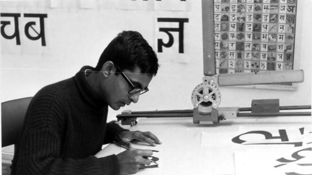 Mahendra Patel is a master of type-face design. He has designed airport signages and maps.(Photo courtesy: Mahendra Patel)