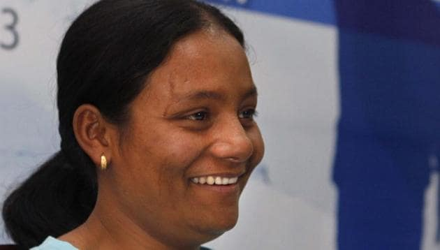 Arunima Sinha, the first women amputee to conquer Mount Everest (file photo). She is one of the achievers awarded by Niti Aayog, MyGov and the United Nations.(Hindustan Times)