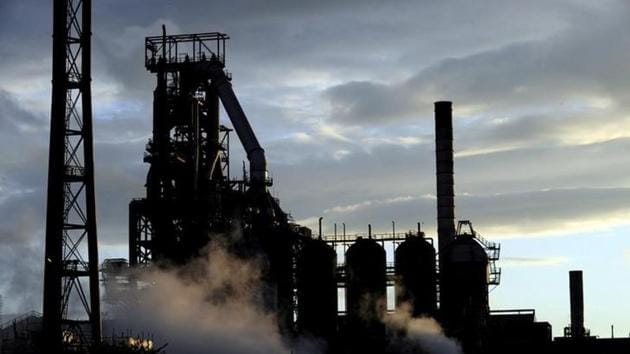 File photo of the Tata Steel plant seen at sunset in Port Talbot, South Wales, in May 2013.(Reuters)