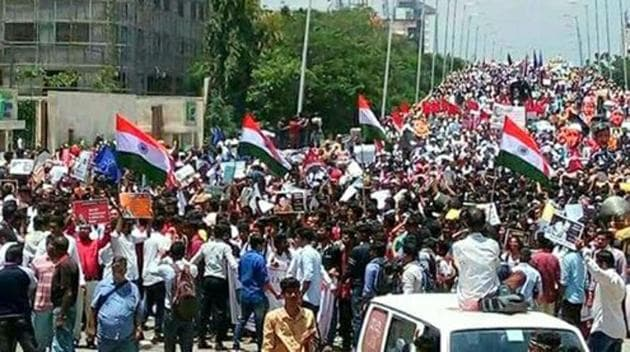 Protest march in Bengaluru against the murder of Gauri Lankesh, on Tuesday, September 12, 2017.(Official CPI(M) Twitter account)