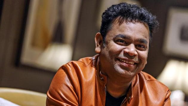 Music composer AR Rahman makes his debut as a filmmaker with the concert film, One Heart.(Photo: Raajessh Kashyap/HT Photo)