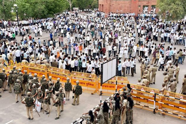 The farmers withdrew their protest and ended their sit in that had been going on in Sikar(PTI)