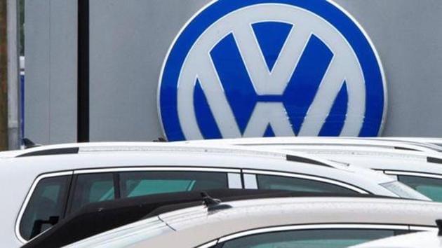 German car maker Volkswagen at a dealership in Woodbridge on September 29, 2015.