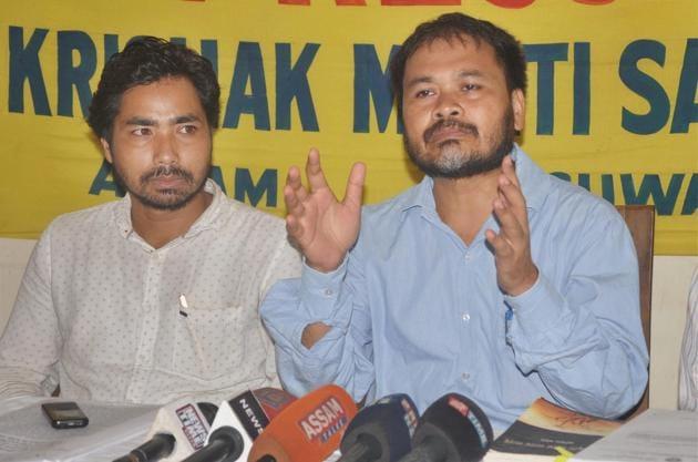 Krishak Mukti Sangram Samiti leader Akhil Gogoi.(PTI)