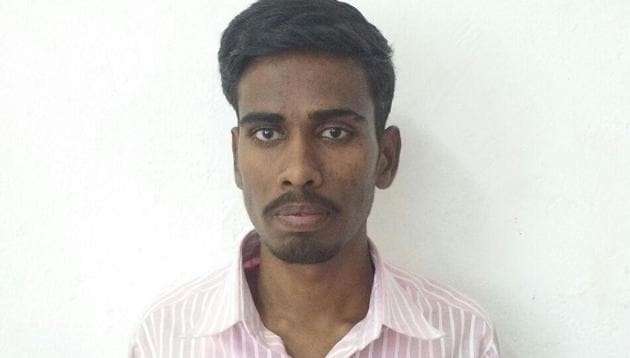 19-year-old medical student Suresh, whose admission was cancelled by the medical regulator.(HT Photo)