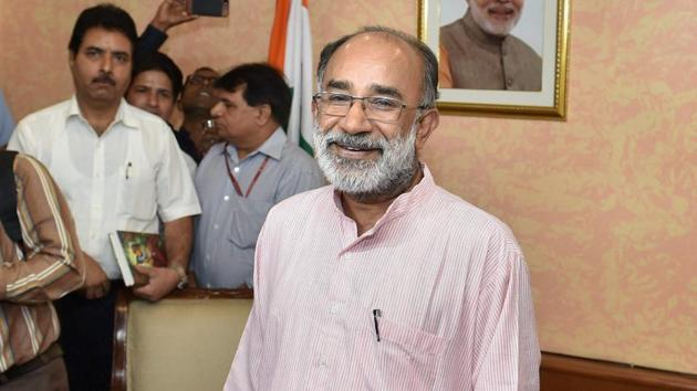 Alphons Kannanthanam is among the newly inducted ministers in Prime Minister Narendra Modi.(PTI Photo)