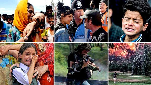 Some of the most moving images from 2017 so far that capture heartbreak, hope and death in their most vulnerable form.(Agencies and HT Photos)