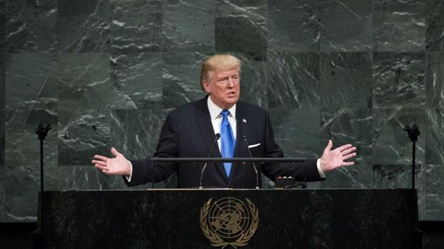 US President Donald Trump addresses the United Nations General Assembly at UN headquarters, in New York City.(AFP Photo)