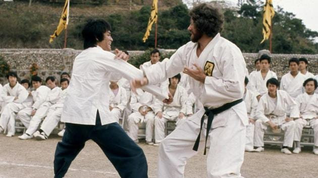 Bob Wall fighting Bruce Lee in Enter The Dragon (1973)(Provided by Bob Wall)