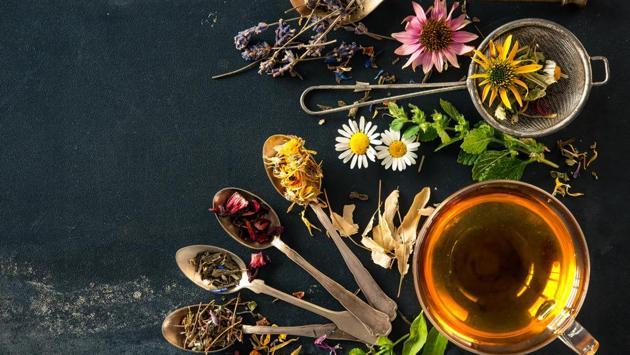 Wildflowers and various herbs for herbal tea.(iStock)