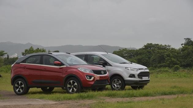 It's Tata's new Nexon, powered by a 1.2-litre turbocharged petrol engine, against Ford's 1.5-litre petrol EcoSport. Who will be the winner?