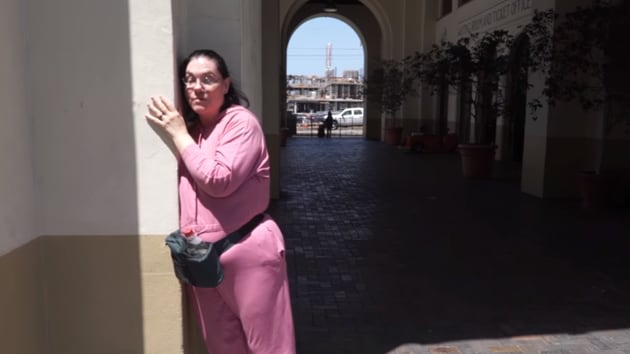 American Carol Santa Fe got marred to a train station in San Diego, earlier this year.