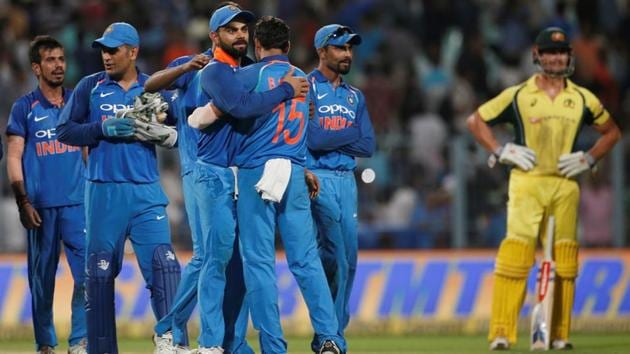 The Virat Kohli-led Indian cricket team has a 2-0 lead in the series, going into the third ODI against Australia in Indore.(Reuters)