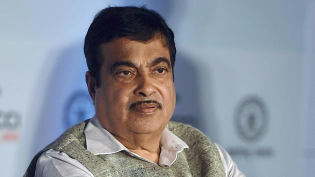 Mumbai: Union Minister for Road Transport & Highways, Shipping and Water Resources Nitin Gadkari looks on during the 5th Progressive Maharashtra 2017 Summit, in Mumbai on Monday. PTI Photo by Shashank Parade (PTI9_18_2017_000064A)