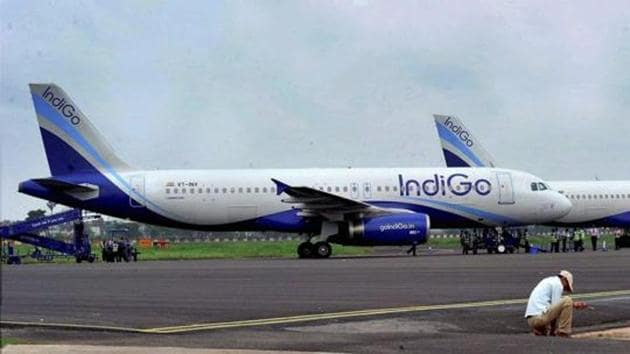 A senior official at the Directorate General of Civil Aviation said as many as six A320 neo planes of IndiGo were on ground and awaiting engine replacement.(PTI file)
