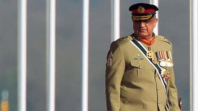 File photo of Pakistan Army chief Gen Qamar Javed Bajwa at the Pakistan Day military parade in Islamabad on March 23, 2017.(Reuters)