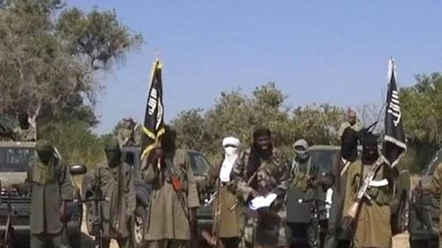 A file photo of Boko Haram militants.(AFP)