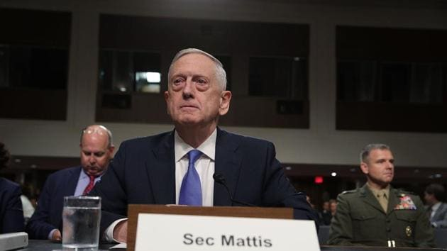 """US defence secretary Jim Mattis waits for the beginning of a hearing before the Senate Armed Services Committee on Capitol Hill in Washington on October 3, 2017. The committee held a hearing on the """"Political and Security Situation in Afghanistan"""".(AFP)"""