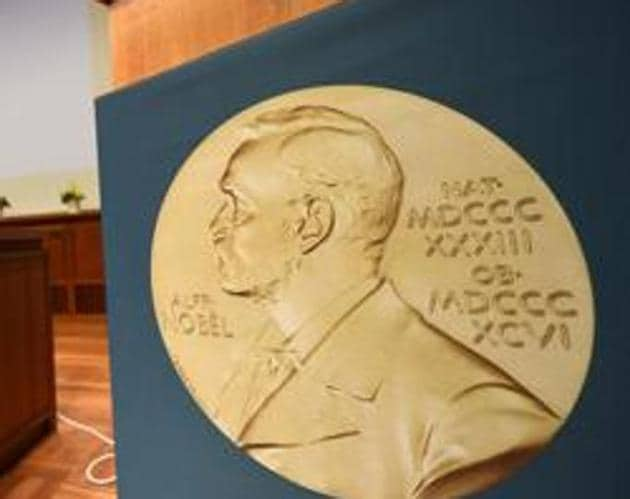 A medal of Alfred Nobel is pictured prior to the beginning of a press conference to announce the winner of the 2017 Nobel Prize in Medicine on October 2, 2017 in Stockholm.(AFP File Photo)