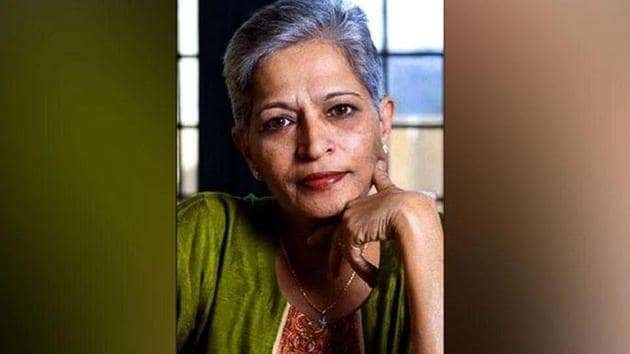 Lankesh, an outspoken newspaper editor, was shot dead outside her home by unidentified assailants in Bengaluru on September.(Burhaan Kinu/HT Photo)