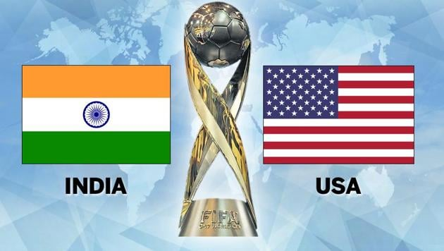 India lost to USA in their Group A opener of the FIFA U-17 World Cup in New Delhi today. This was India's first ever match at this stage. Get highlights of India vs USA here.(HT Photo)