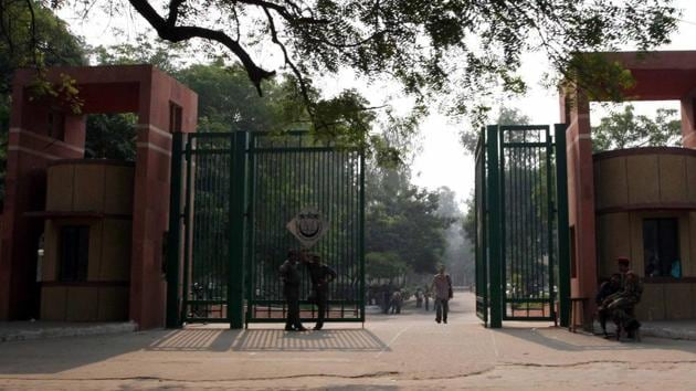 The university, also referred to as Jamia, has not had elections since the union was disbanded by the administration on March 31, 2006.(HT FILE)