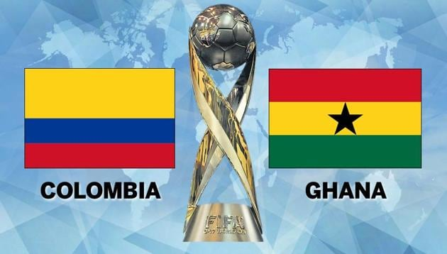 Two-time champions Ghana beat Colombia in a Group A match of the FIFA U-17 World Cup 2017 in New Delhi today. Get full football score and full updates here.(HT Photo)
