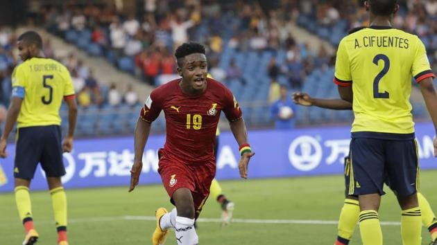 Sadiq Ibrahim scored a goal for Ghana as they started their FIFA U-17 World Cup campaign on a bright note with a 1-0 win over Colombia.(AP)
