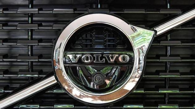 A Volvo XC 90 car is seen at the Volvo Cars Showroom in Stockholm, Sweden.