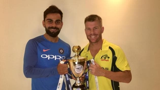India and Australia share T20I series after wet outfield spoils decider