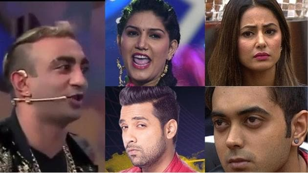 After the housemates put in their votes, Sapna, Akash, Hina, Puneesh and Luv were nominated for this week's eviction.