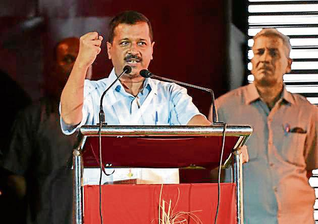 Arvind Kejriwal's message, issued in an email sent to donors on Dhanteras on Tuesday, led to fresh donations of Rs 14.72 lakh within a day, with more than 1,830 people responding.(Burhaan Kinu/HT PHOTO)