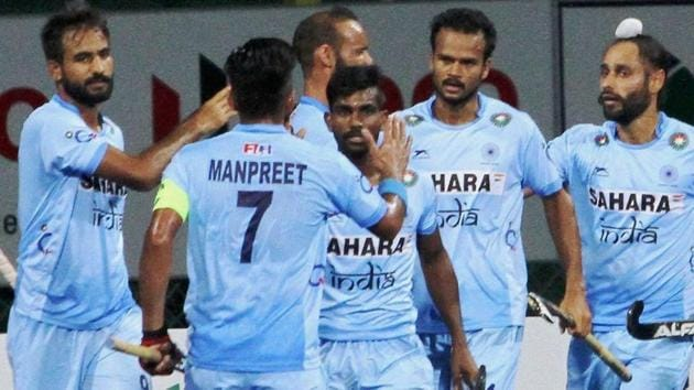 India beat Malaysia in their Asia Cup hockey Super 4 encounter in Dhaka. Get highlights of India vs Malaysia, Asia Cup hockey, here.(PTI)