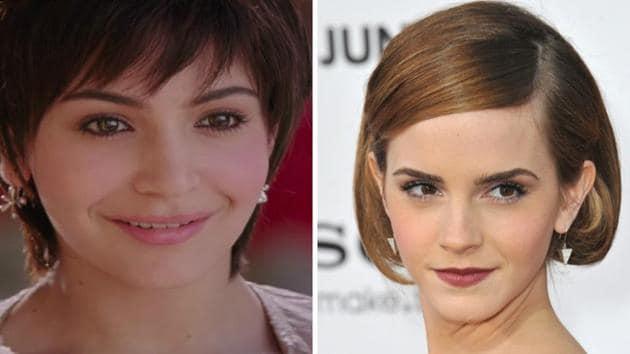 Actors Anushka Sharma and Emma Watson have sported short, funky hair.(Youtube, Shutterstock)