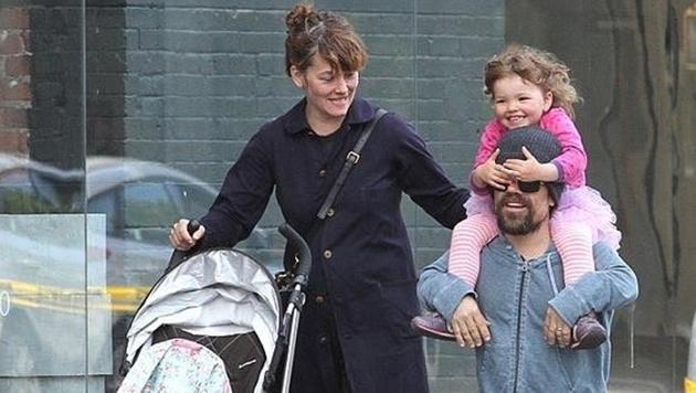 Peter Dinklage with wife Erica Schmidt and their daughter.(Instagram)