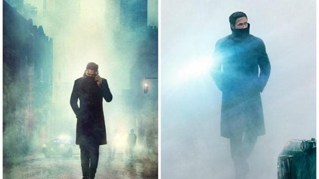 The poster of Saaho and Ryan Gosling's poster from Blade Runner 2049.