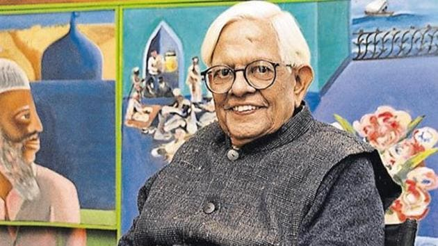 Born in 1934, Bhupen Khakhar was a leading artist in Indian contemporary art. He was self-trained and started his career in painting relatively late in life.(HT File Photo)