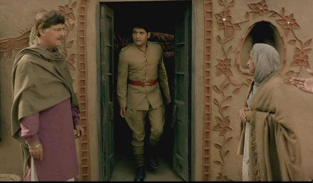 Kapil Sharma in a still from the first trailer of Firangi.