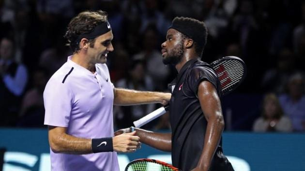 Roger Federer cruised to a 6-1, 6-3 win over Frances Tiafoe in his ATP Basel opener on Tuesday.(Reuters)