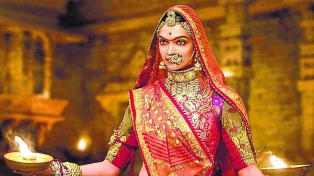Deepika Padukone in a still from the first song from Padmavati, Ghoomar.