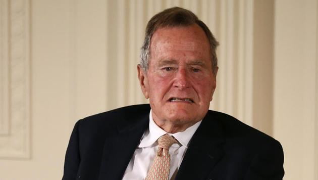 Former US President George H W Bush has been accused by another actress of groping her.(AFP file)