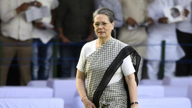 This is the third time Congress president Sonia Gandhi has been hospitalised this year. In May, she had food poisoning and spent nearly a week in the hospital. In January, she was hospitalised with fever and chest congestion.(Arvind Yadav/HT FILE PHOTO)