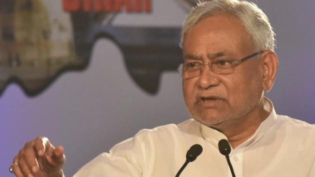 Bihar chief minister Nitish Kumar speaks during a function in Patna.(HT FIle Photo)