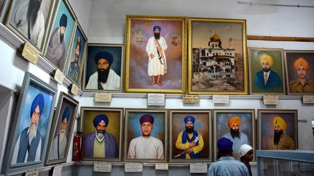 A view of the Central Sikh Museum at the Golden Temple in Amritsar.(HT Photo)