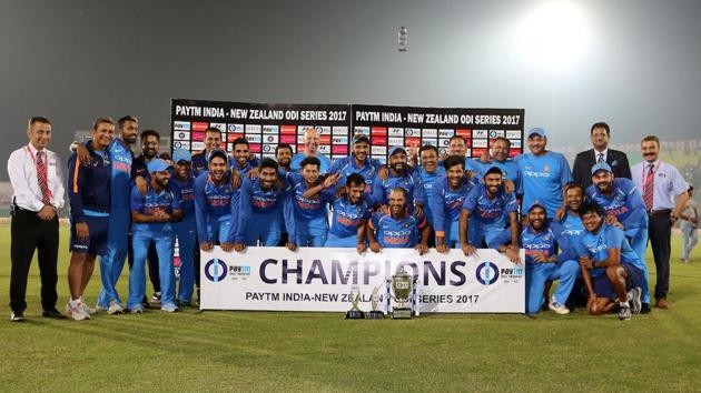 India beat New Zealand by six runs in Kanpur to win the three-ODI series 2-1. Get highlights of India vs New Zealand, 3rd ODI here(BCCI)